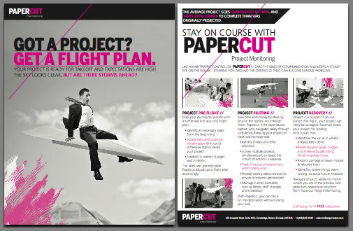 Papercut Project Monitoring - Marketing Flyer