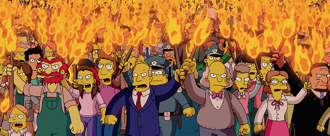 Angry Mob - The Simpsons