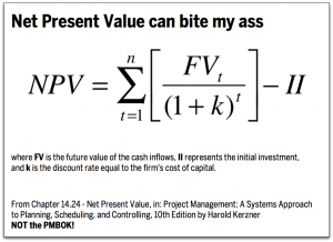 Net Present Value Can Bite My Ass
